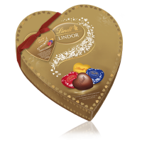 شکلات لیندور قلب طلایی