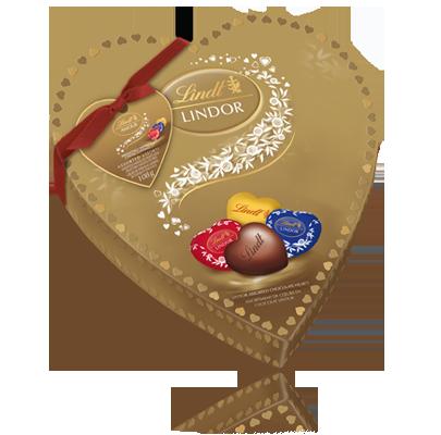 شکلات لینت ( لیندور ) قلب طلایی
