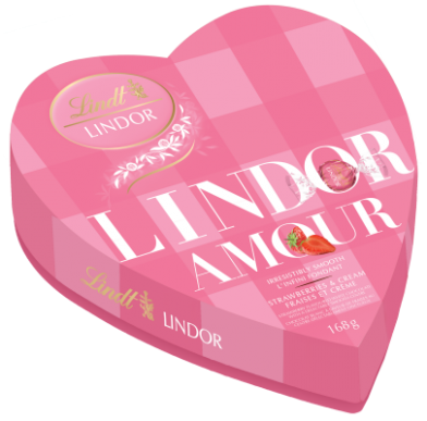 شکلات لیندور قلب صورتی